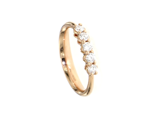 Ring Rotgold 750 mit Diamanten 0.40 ct
