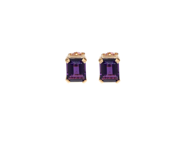 Ohrringe Rotgold 750 mit Amethyst