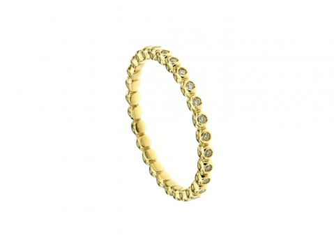 Ring Gelbgold 750 mit Diamanten 0.12 ct