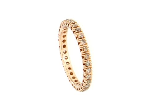 Ring Rotgold 750 mit braunen Diamanten 0.70 ct