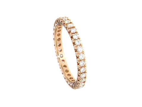 Alliance Ring Rotgold 750 mit Diamanten 0.72 ct