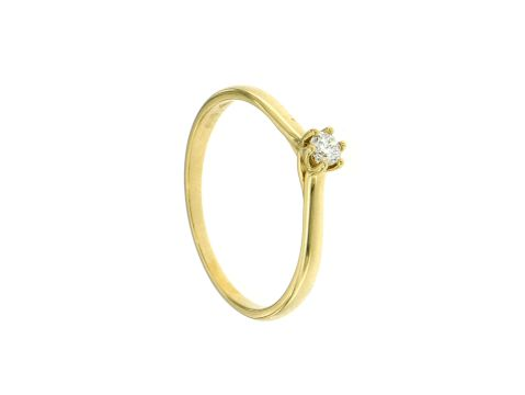 Anello oro giallo con diamante 0.10 ct