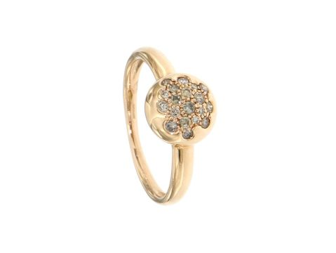 Anello oro rosa con diamanti brown 0.38 ct