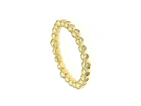 Anello oro giallo con diamant1 0.30 ct