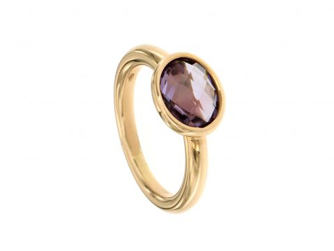 Ring Rotgold 750 mit Amethyst