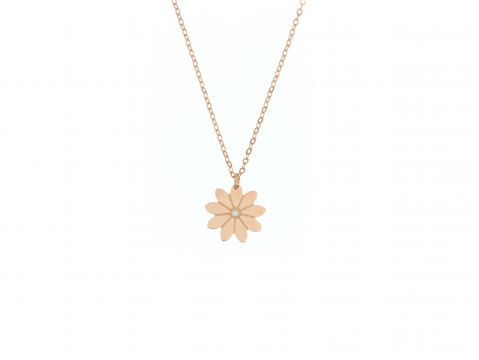 Kette Rotgold 750 mit Blume